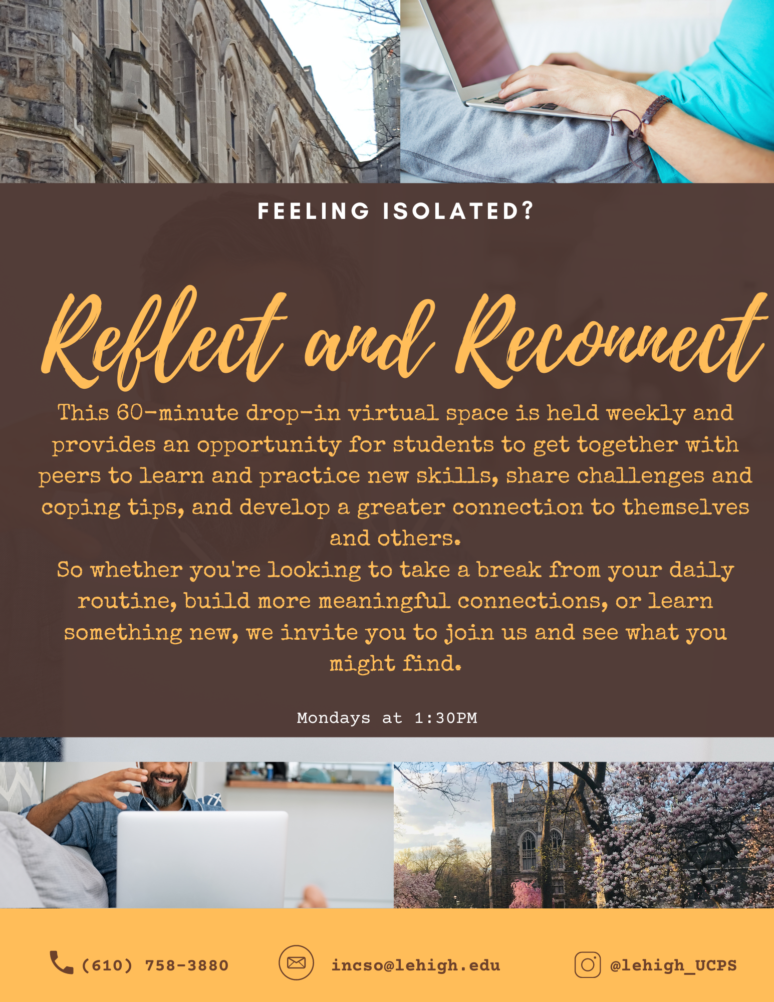 flyer for reflect and reconnect