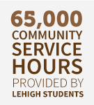 65,000 community service hours provided by Lehigh students