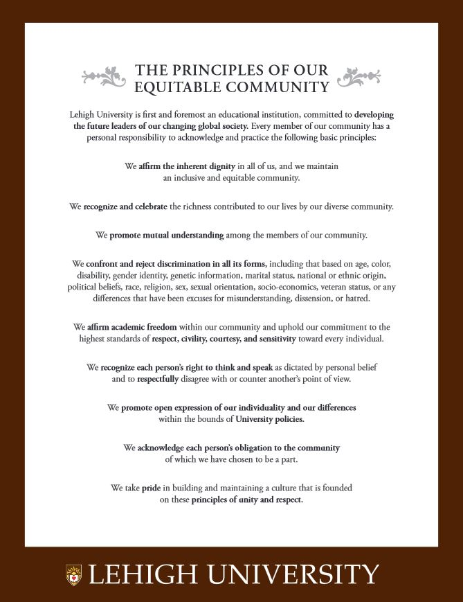 Principles of Our Equitable Community