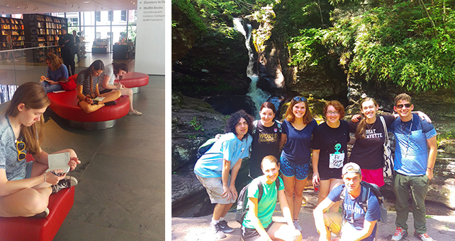 alLUsions students at Strand Bookstore and Ricketts Glen