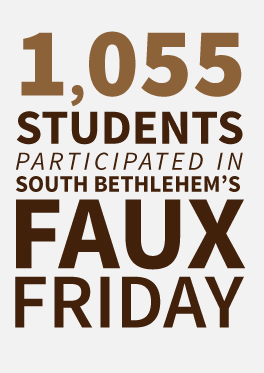1,055 students participated in South Bethlehem's Faux Friday