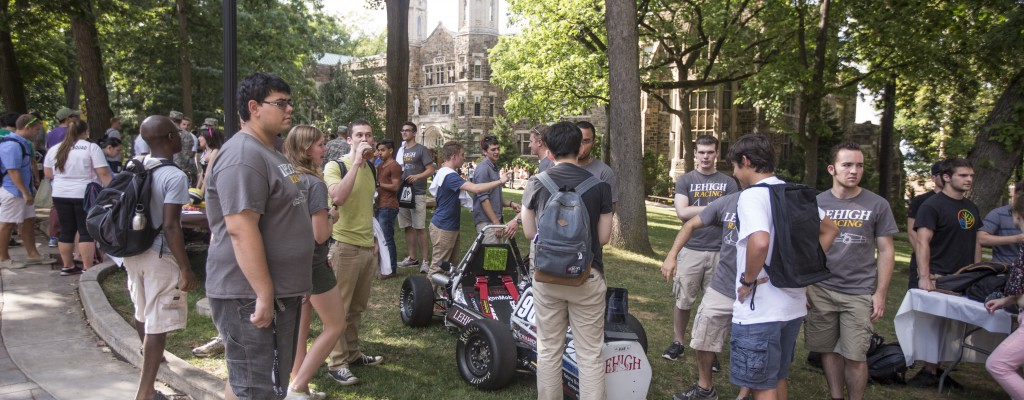 Students attending Club Expo