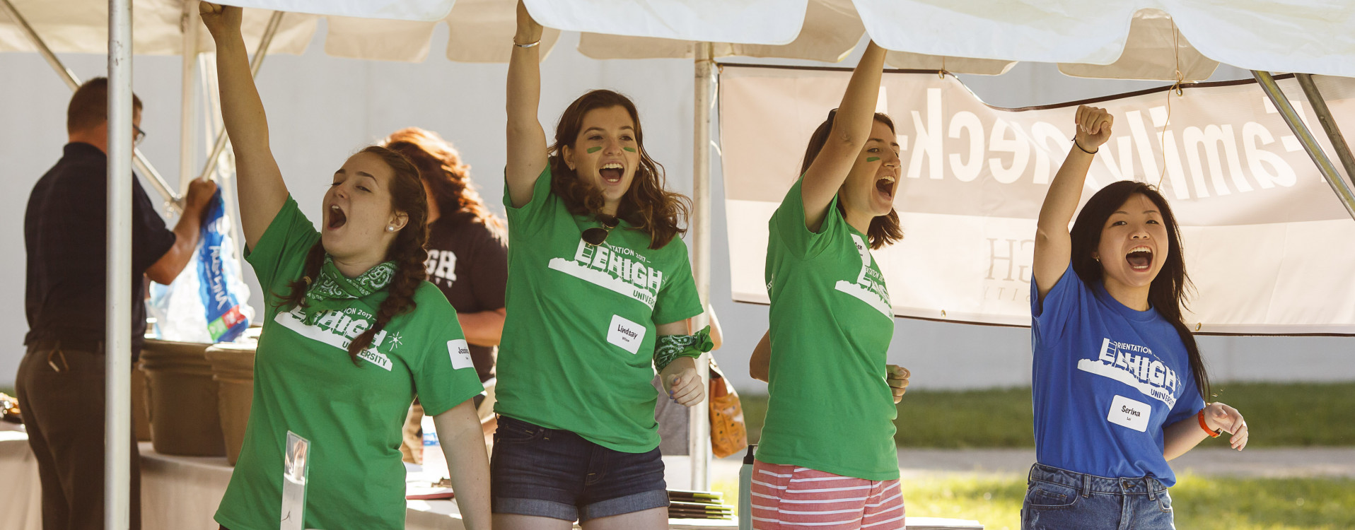 Orientation Leaders at check-in