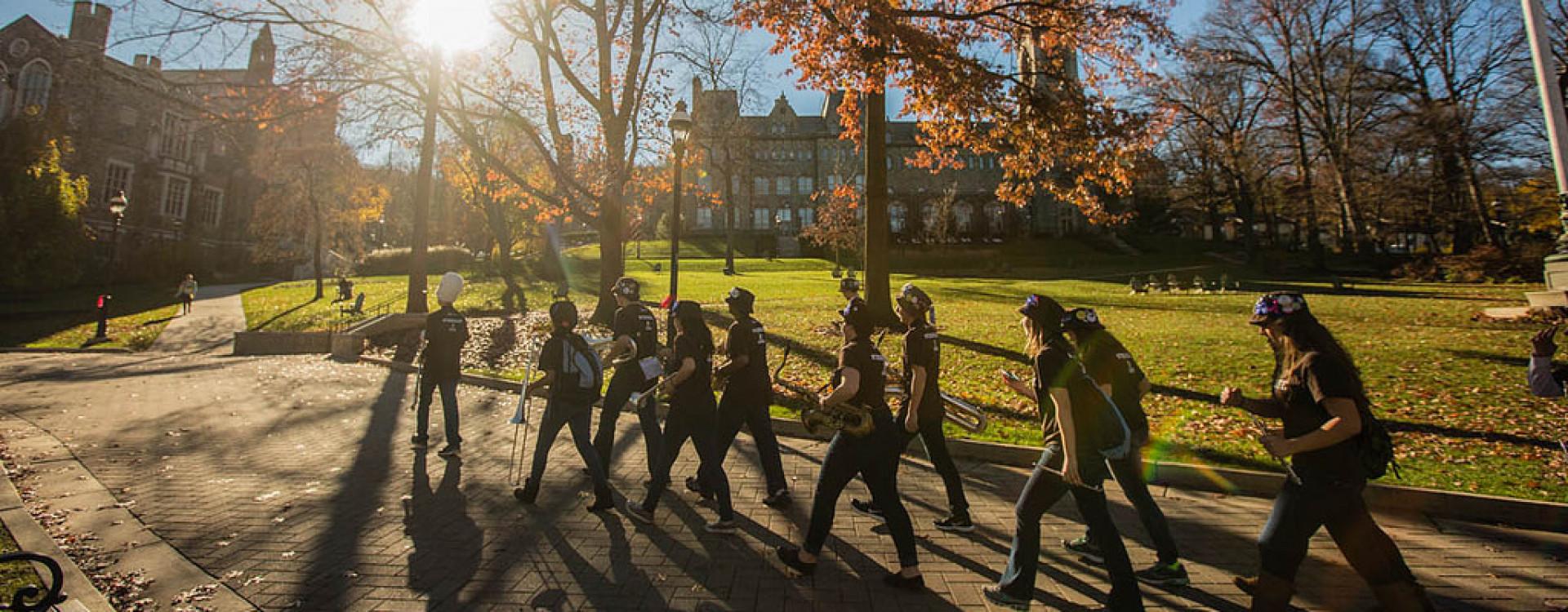 UC Memorial Walkway - LU Marching Band