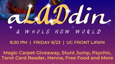 Aladdin: A Whole New World on the UC Lawn