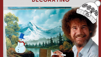 Bob Ross Holiday Paint Night